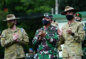 Komandan Kodiklatad Terima Kunjungan Kehormatan Major General Justin Ellwood, Panglima Divisi 1 AD Australia