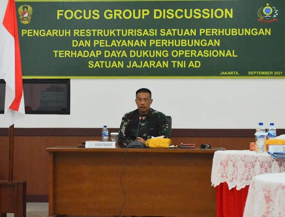 Kadislitbangad Buka Focus Group Discussion (FGD) Program Litbanghan TA. 2021