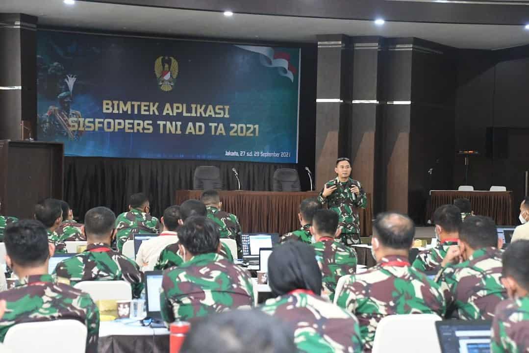 Sajikan Informasi Cepat, Tepat dan Akurat, Srenaad Gelar Bimtek Aplikasi Sisfopers TNI AD