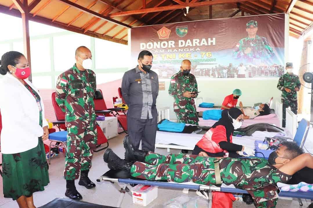Jelang HUT ke-76 TNI, Kodam XVII/Cenderawasih Gelar Donor Darah