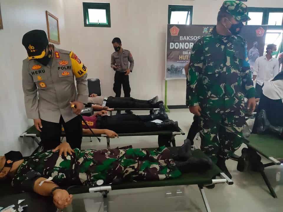 Sambut HUT TNI Ke-76, Kodim 1628 Gelar Bhakti Sosial Donor Darah