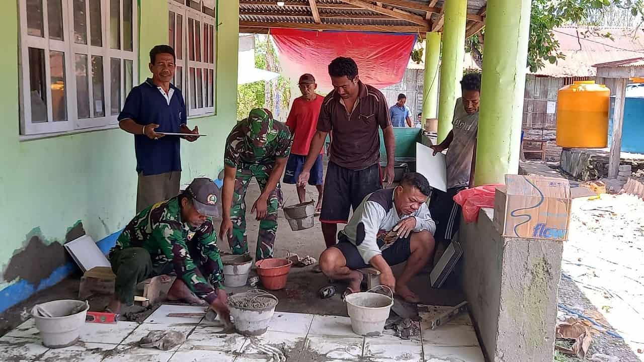 Pengurus Masjid Al Iklas Bersyukur TNI AD Membantu Kesulitan Umat