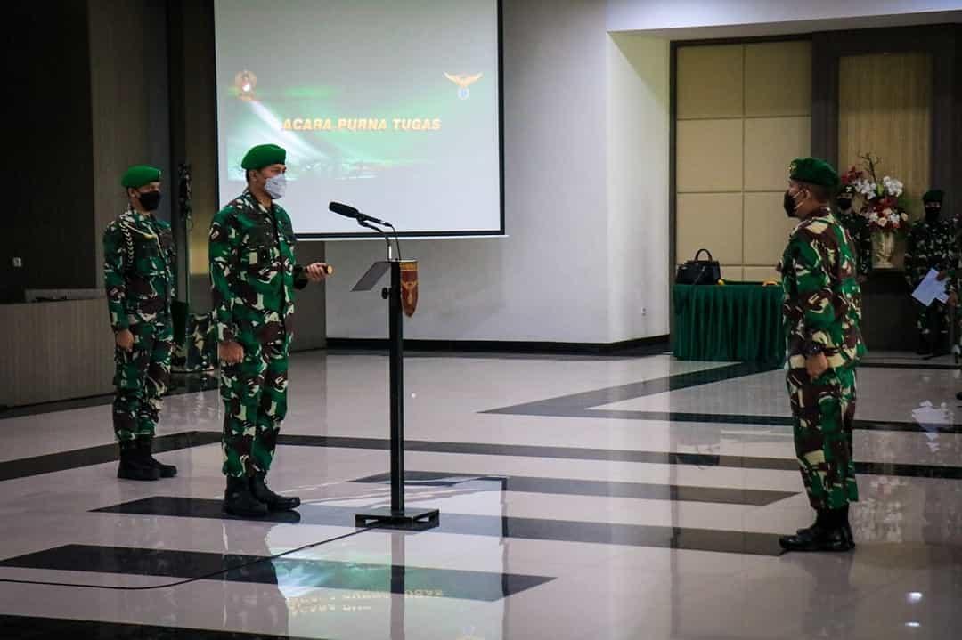 Danpuspenerbad Pimpin Acara Purna Tugas TNI AD dan PNS Puspenerbad