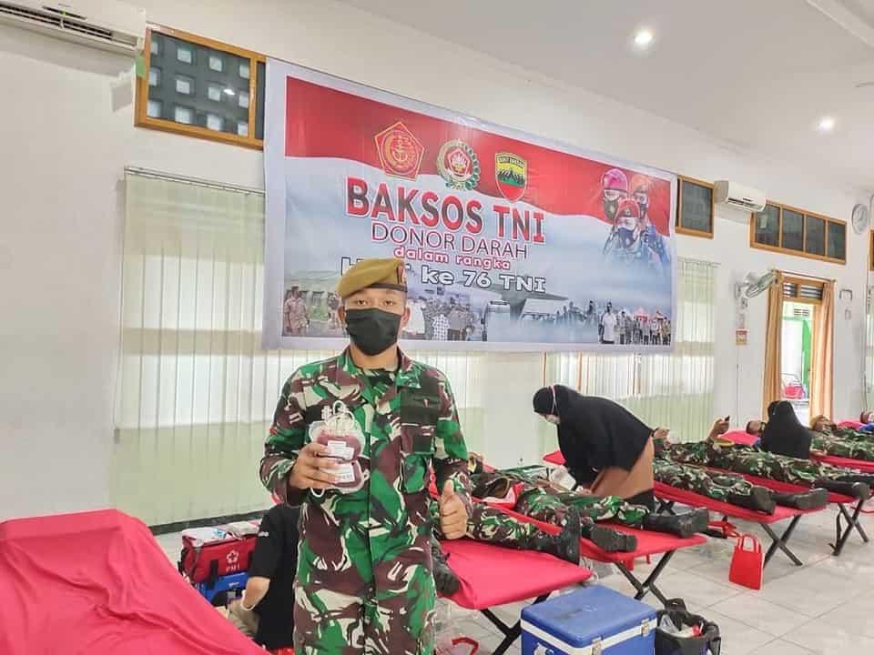 Kodam I/BB Gelar Donor Darah Sambut HUT ke -76 TNI
