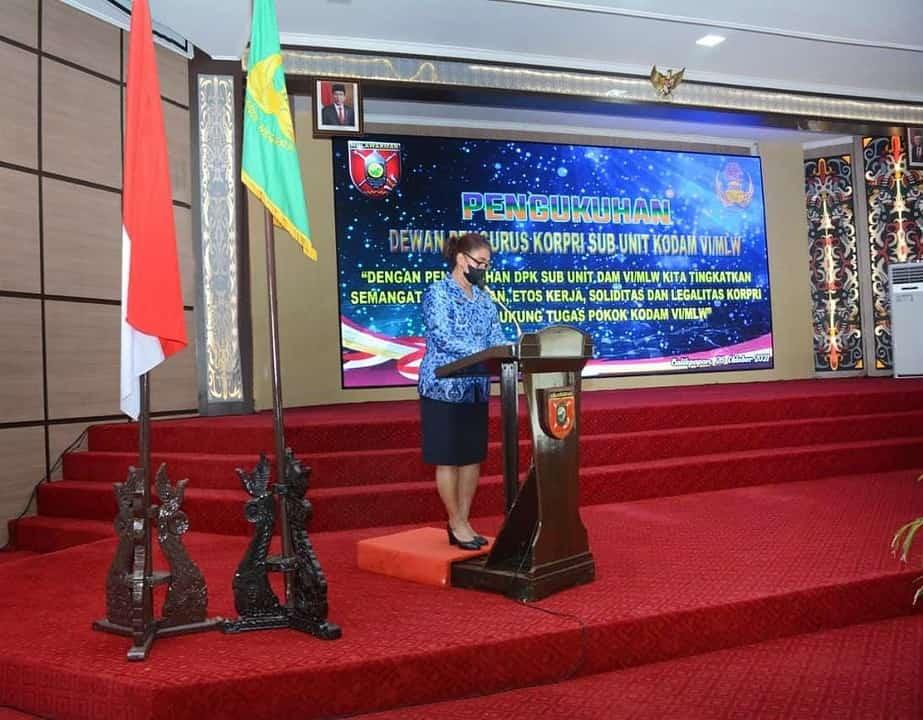 Ketua DPK Unit TNI AD Kukuhkan DPK Sub Unit Kodam VI Mulawarman