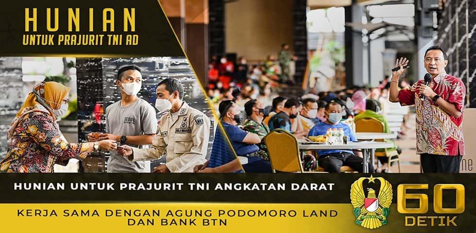Sosialisasi Program Perumahan Prajurit Hasil Kerjasama TNI AD, Bank BTN dan Agung Podomoro Land