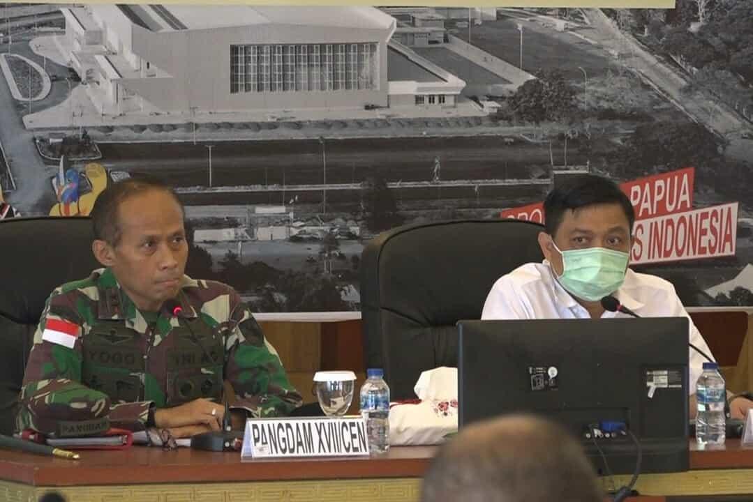 Pangdam XVII/Cenderawasih Pimpin Rakor Wilayah Dalam Rangka Kunker RI 1