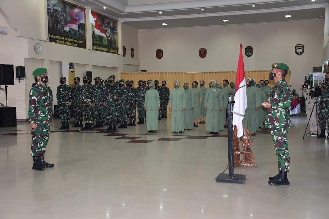 Pangdam II/Sriwijaya Pimpin Kenaikan Pangkat Perwira Kodam II/Sriwijaya