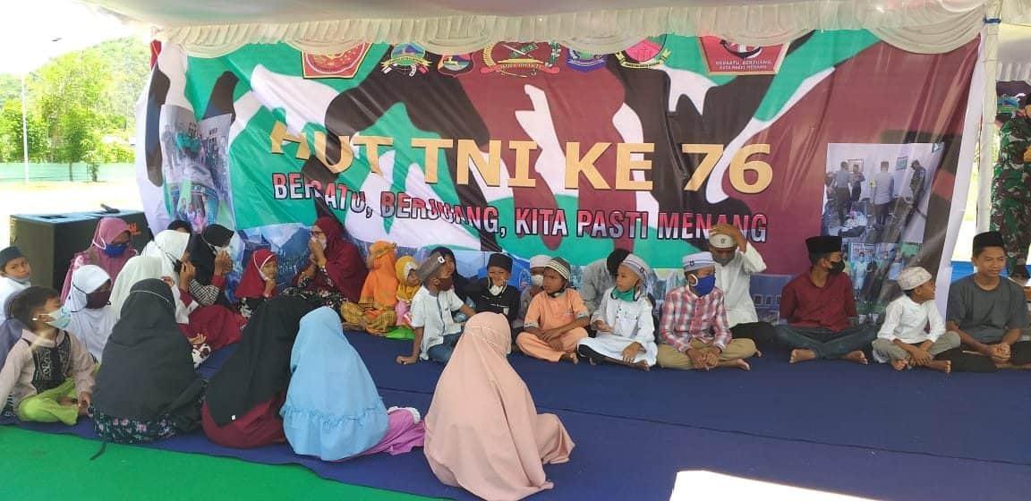 Jelang HUT TNI Ke-76, Kodim 1628 Gelar Doa Bersama dan Berikan Tali Asih Kepada Panti Asuhan