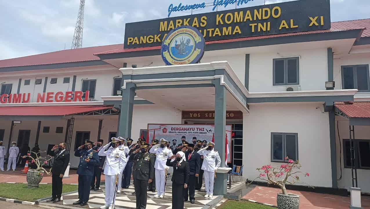 Peringatan HUT Ke-76 TNI Secara Virtual Dipusatkan di Lantamal XI Merauke