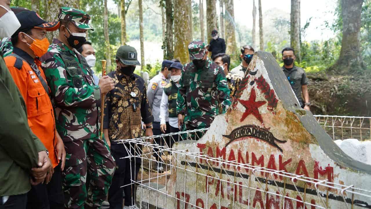 Danrem 061/SK : 68 Makam Pahlawan Tanpa Nama di Kecamatan Takokak Cianjur Harus Dijaga dan Dirawat Oleh Generasi Penerus