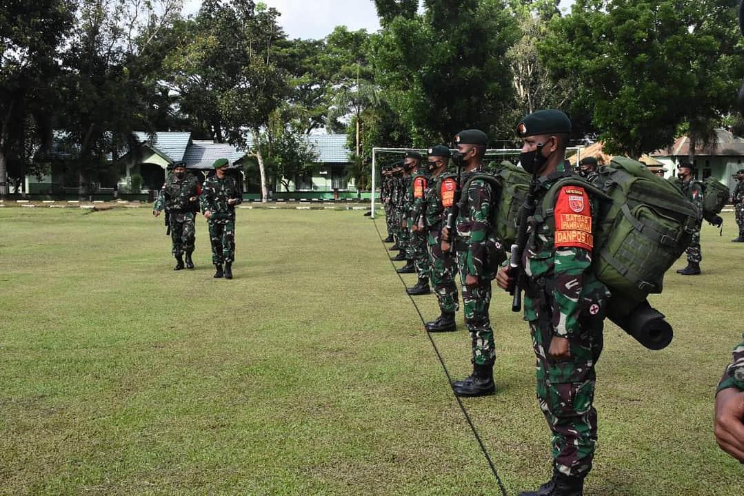 Danrem 152/Baabullah Pimpin Upacara Pemberangkatan Satgas 732/Banau Ke Maluku Utara