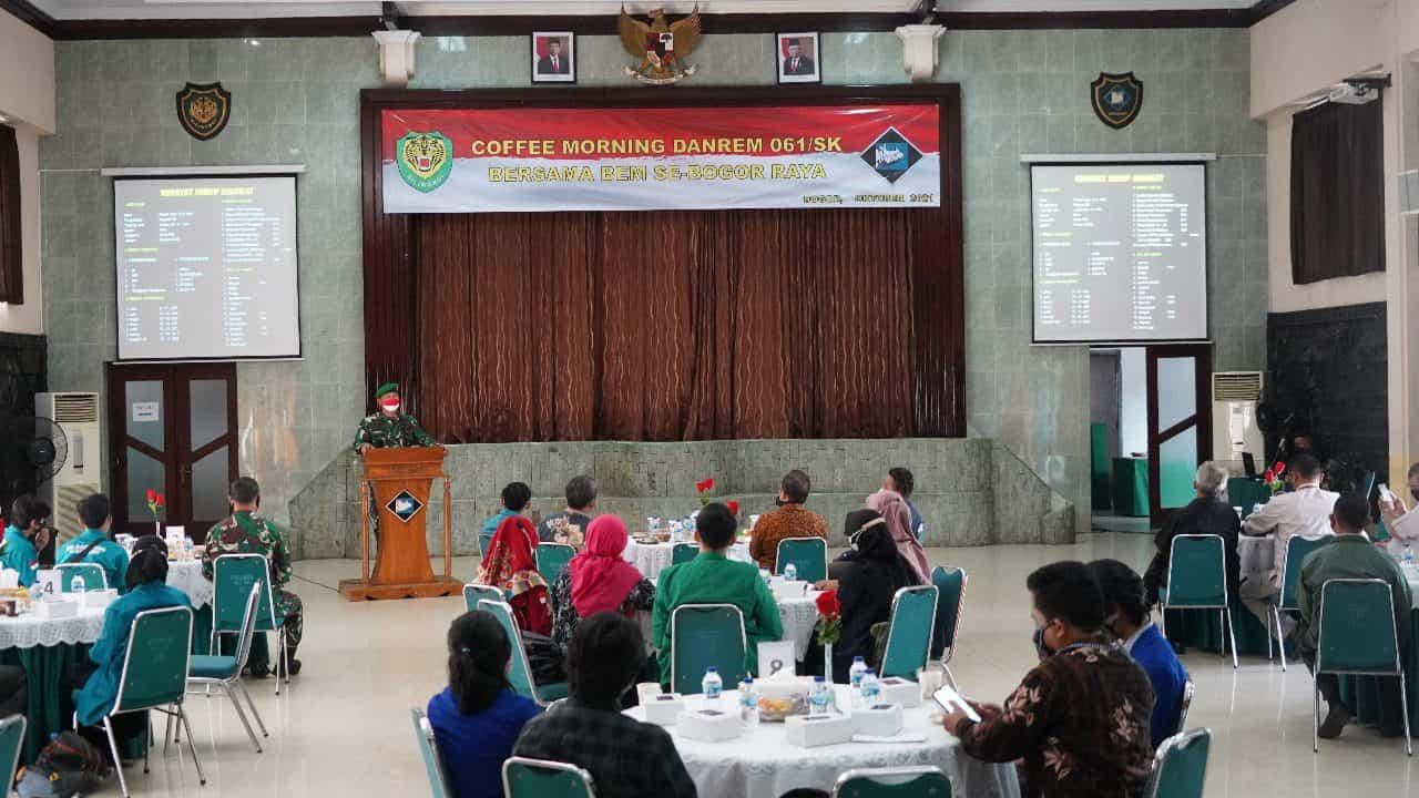 Danrem 061/SK, Bersama Empat Rektor Universitas dan BEM Sinergi Membangun Soliditas Dengan TNI-AD