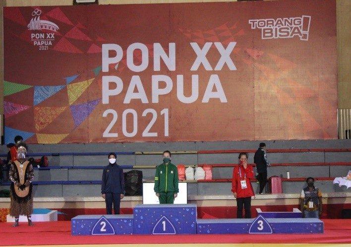 Atlet Judo Disjasad Yang Tergabung Dalam Kontingen Jabar Raih Medali Perak PON XX Papua