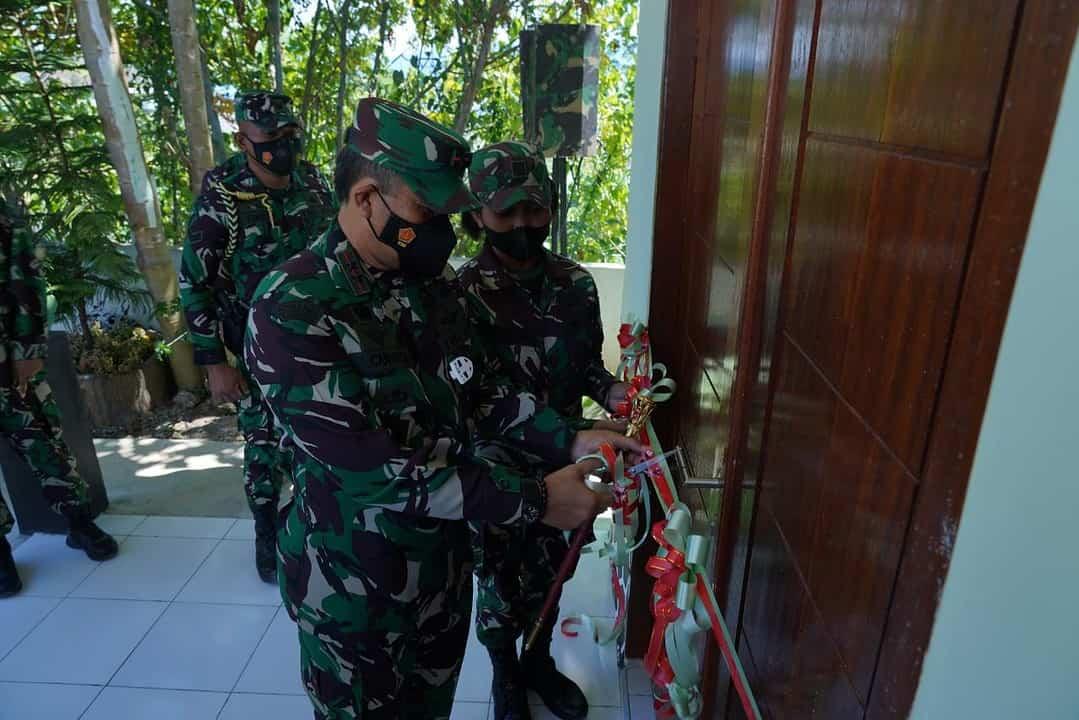 Berikan Kesejahteraan Prajurit, Pangdam Kasuari Resmikan Barak Kowad Kodam XVIII/Kasuari