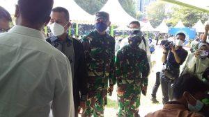 Kaposahli Pangdam I/BB Tinjau Pelaksanaan Vaksinasi Bersama BP Jamsostek