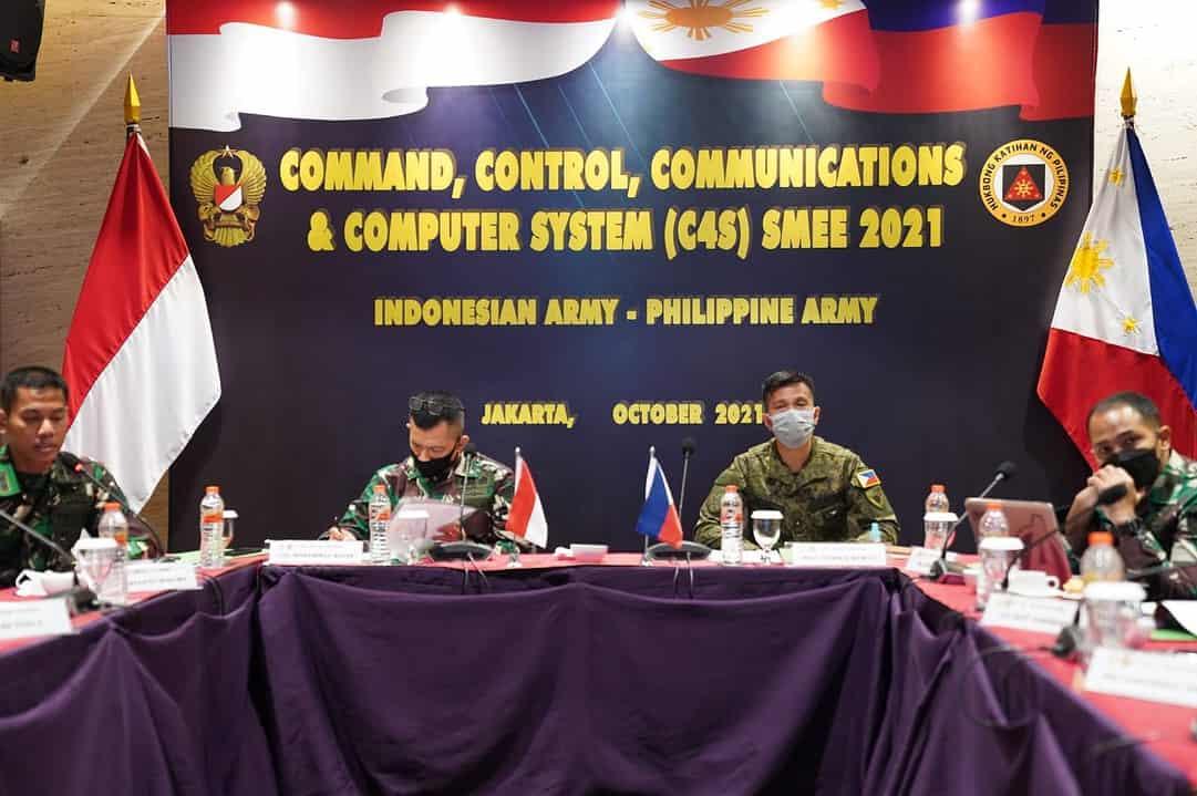 TNI AD Gelar Latihan Bersama C4S SMEE Dengan AD Filipina