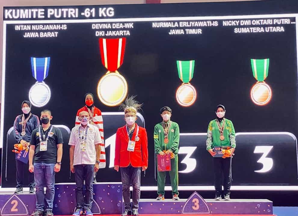 Karateka Putri Serda (K) Nicky Anggota Paldam I/ BB Tambah Medali Perunggu Buat Kontingen Sumut