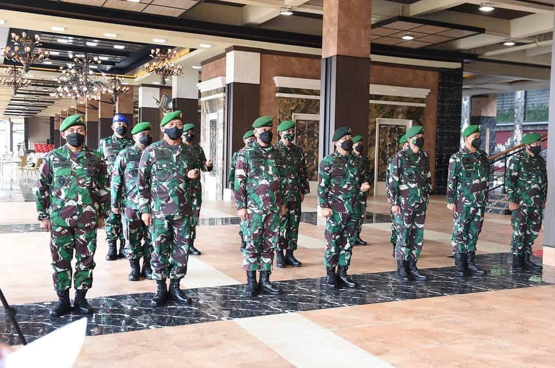 Kasad Terima Laporan Korps Kenaikan Pangkat 36 Pati TNI AD