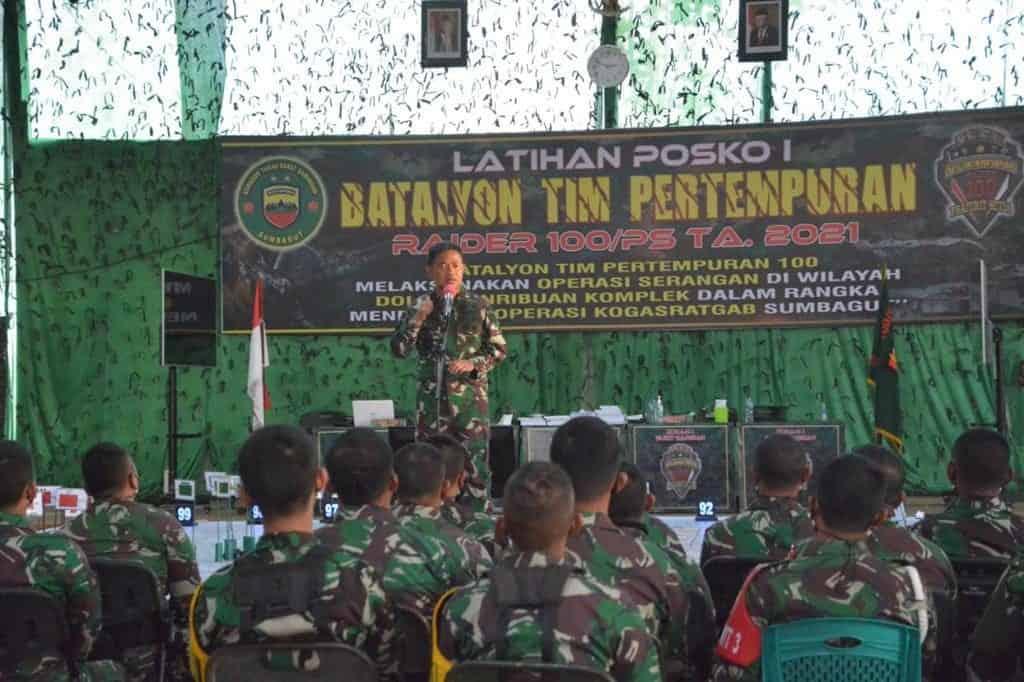 Pangdam I/BB Beri Motivasi Prajurit Yon Tim Pertempuran (YTP) Raider 100/PS