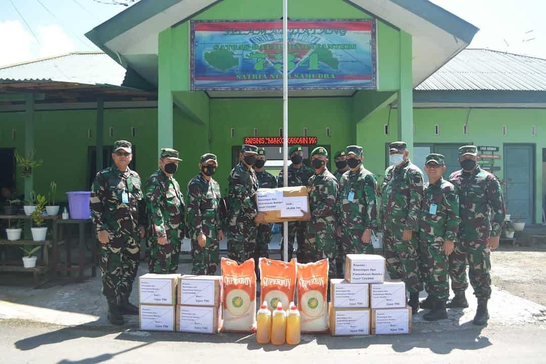 Satgas Yonif 734 Terima Kunjungan Itjen TNI