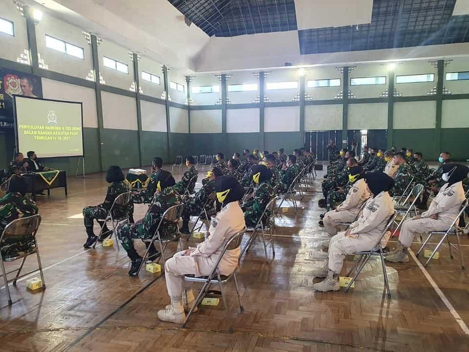 Antisipasi Penyalahgunaan Narkoba, Dinas Jasmani Angkatan Darat Gelar Penyuluhan P4GN dan Tes Narkoba