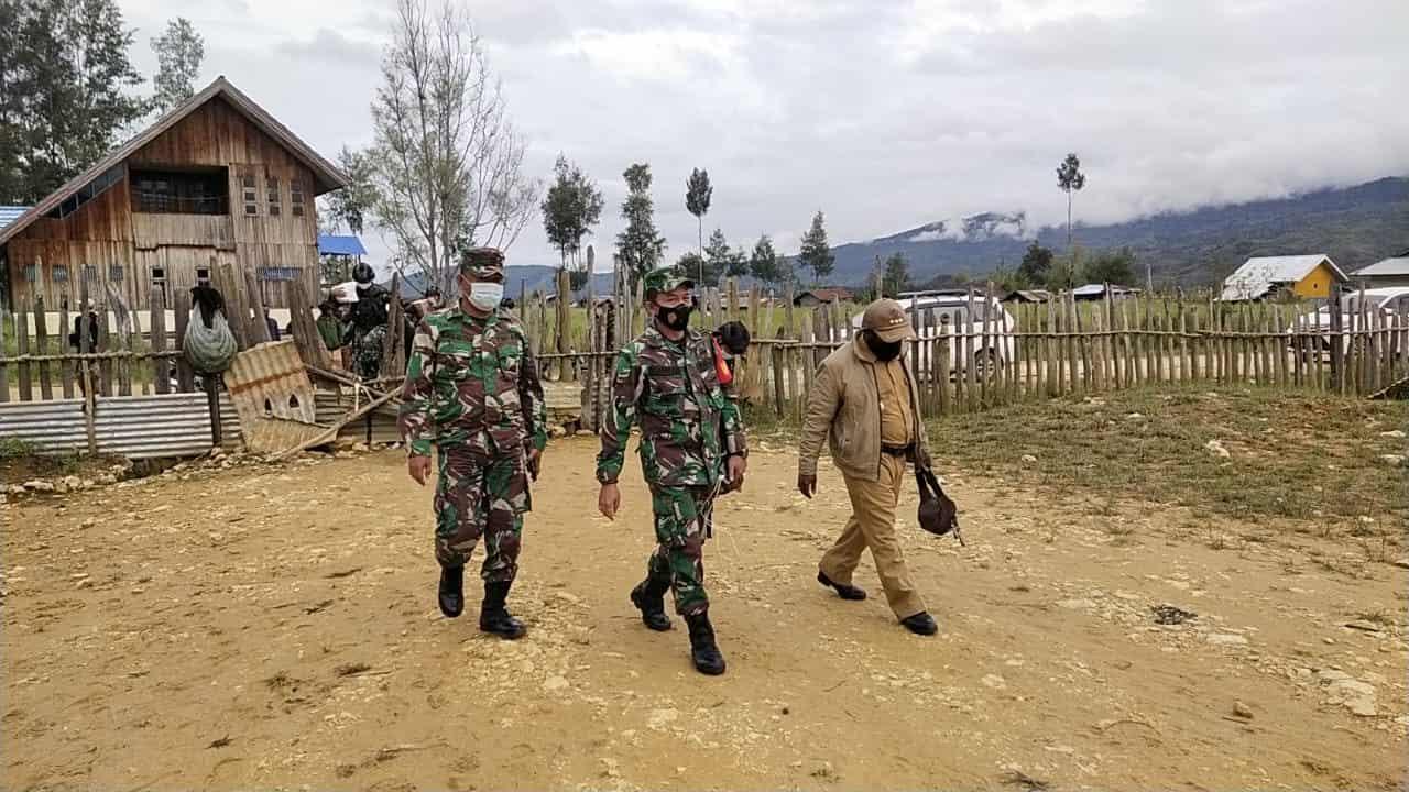 Satgaster Koramil Persiapan Bibida Gelar Kegiatan Bakti Sosial dan Keagamaan di Distrik Bibida, Papua