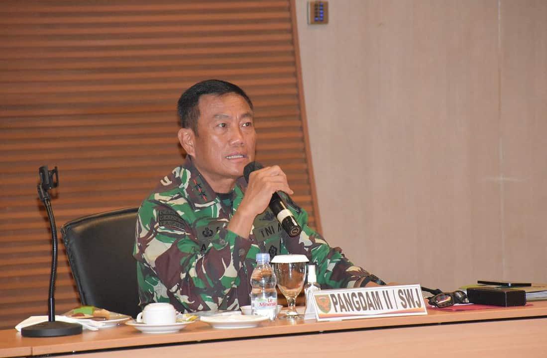Pangdam II/Sriwijaya Ikuti Rakor Penanganan Aktivitas Pengeboran Liar Sumur Minyak Provinsi Sumsel dan Jambi