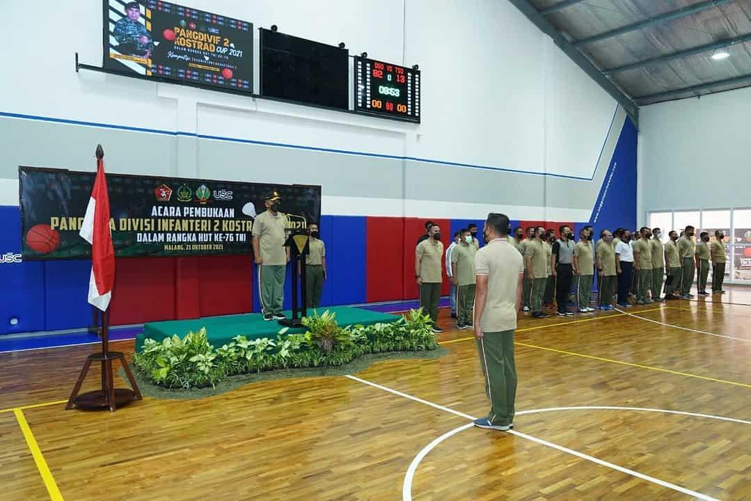 Peringati HUT TNI Ke- 76, Turnamen Pangdivif 2 Kostrad Cup Resmi Dibuka
