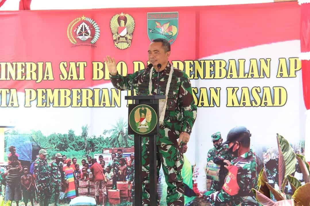 Kasdam XVII/Cenderawasih Dampingi Kunker Danpusterad di Kabupaten Keerom, Papua
