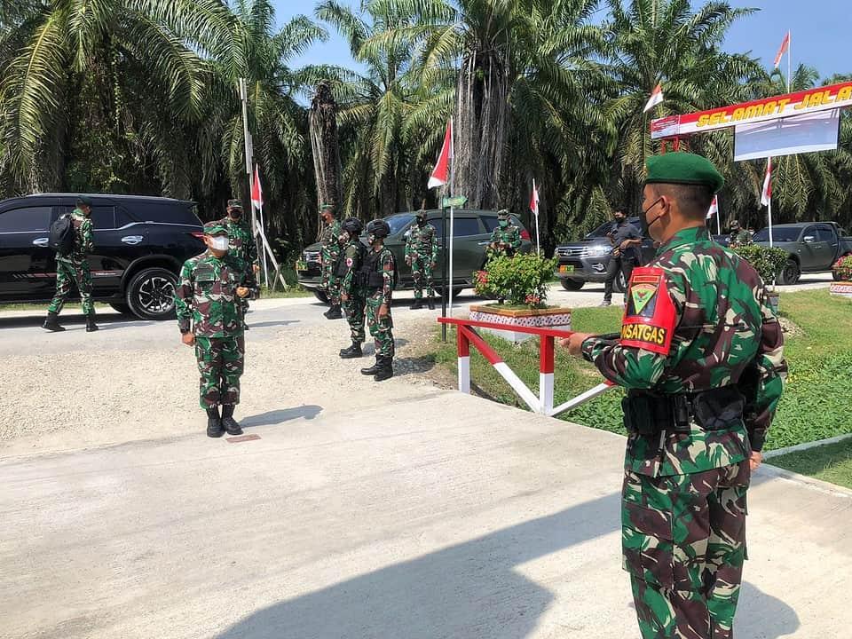 Satgas Yonmek 403 Terima Kunjungan Pangdam IV/Diponegoro